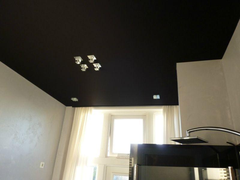 20170326 153010 plafondpanelen badkamer - Plafond geverfd zwart ...