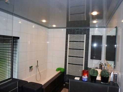 badkamer plafond  mondea  spanplafond en traprenovatie, Meubels Ideeën