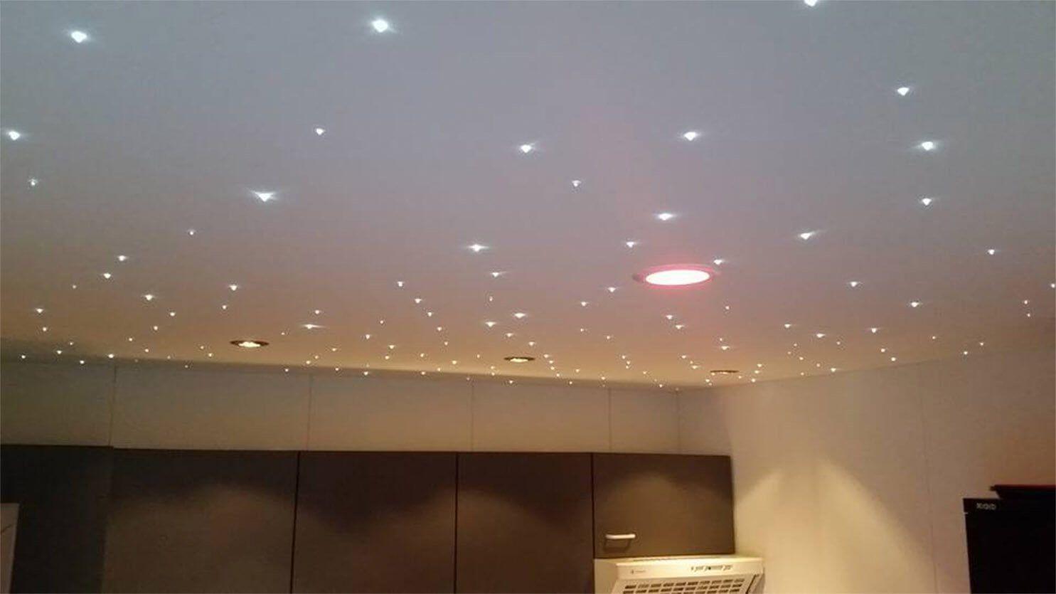 Spanplafond kantoor verlichtingsplan